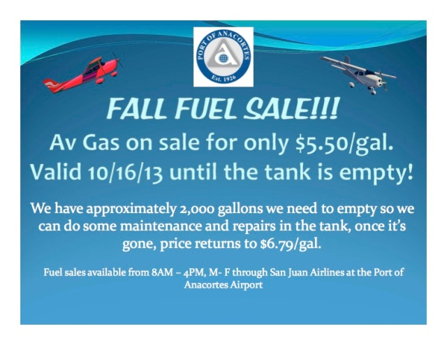 Fall Fuel Sale!!!