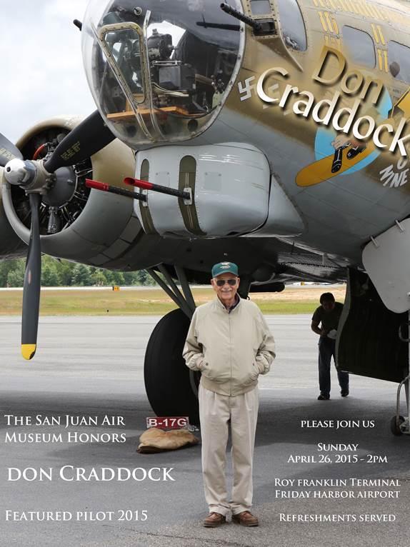 Don Craddock Honored Pilot